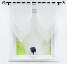 Joyswahl Lydia Voile Bistro Curtains with Tassel