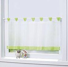 Joyswahl Mia Bistro Curtain Voile Tabs Kitchen