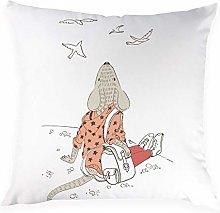 JPDP Cartoon Mouse Pillow Cover Animal Decorative