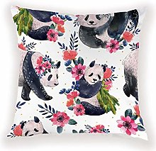 JPDP Cartoon Panda Cushion Cover Geometric Animal