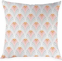 JPDP Geometric Cushion Cover, Pink Decorative
