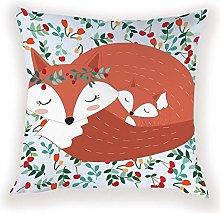 JPDP Mona House Decor Cartoon Fox Pillow Case