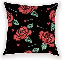 JPDP Rose Cushion Covers For Home Decor Pillows