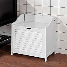 JPL Household Stool-White Bathroom Storage Cabine,