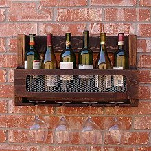 JPL Wine Racks Wine Shelf Solid Wood Bar Wall