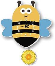 JPVGIA Little Bee Wall Clock Pendulum Clock
