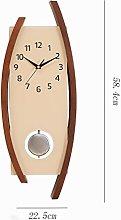 JPVGIA Mute Pendulum Clock, 12 Inch Silent &
