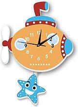 JPVGIA Pendulum Clock Plastic Mute Cartoon