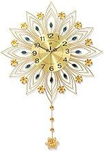 JPVGIA Pendulum Wall Clock 3D Sunburst Clock, Gold