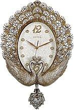 JPVGIA Vintage Wall Clocks Phoenix Pendulum Clock