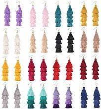 JPZCDK Multicolor Tassel Earrings Creative Yellow