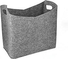 JQDMBH Laundry Basket Felt Basket 40 X 23 X 39.5