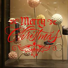 JQFEN Christmas Sticker Windows Glass Cabinet Wall