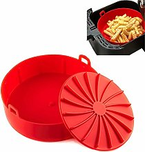 JQM Silicone Air Fryer Basket Liner, Food Safe Air