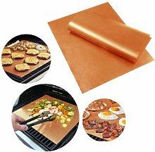 Jrancc Grill Mat,BBQ Sheets 3 packsgo copper Gold