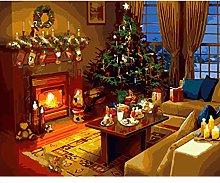 JRLTYU DIY Digital Painting Christmas tree