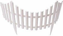 Jroyseter 12Pcs White Plastic Garden Fencing Set