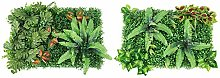 Jroyseter 2Pcs Artificial Plant Panels Greenery