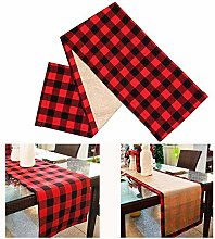 Jsdoin Christmas Table Runner 14 * 27inch Red and