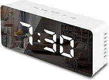 JSFGFSDH Digital LED Mirror Alarm Clock Snooze