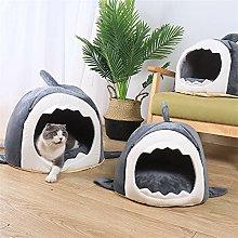 JSJJAOL pet bed Cartoon Cat Bed House Winter Warm