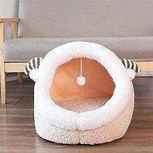 JSJJAOL pet bed Cat Bed Dog House Cozy Calming