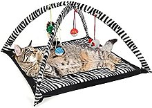 JSJJAOL pet bed Funny Cat Play Tent With Hanging