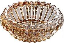 JSJJAUJ Household ashtray 13.8x4.5cm Crystal Glass