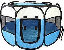 JSJJAUJ pet bed Octagonal Cage Folding Pet Tent