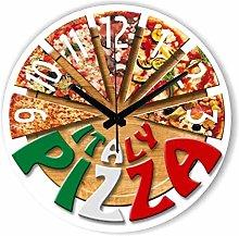 JSJJAWD wall clock Fashion pizza kitchen