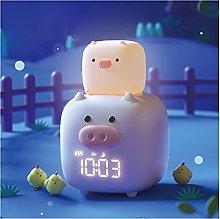 JSJJAWS Alarm clock Alarm Clock Night Lamp Voice