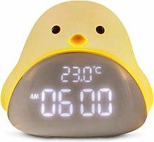 JSJJAWS Alarm clock Cartoon Cute Time Bird Night