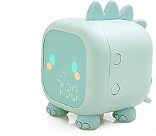 JSJJAWS Alarm clock Led Cartoon Alarm clock voice