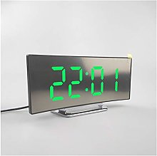 JSJJAWS Alarm clock New Digital Alarm Clock Curved