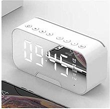 JSJJAWS Alarm clock Portable Mirror LED Alarm