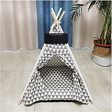 JSJJAWS Cat supplies Portable Linen Pet Tent Dog