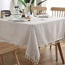 JSJJWSX Waterproof Tablecloth Linen Table Cloth
