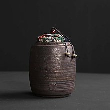 Jsmhh Chinese Antique Pottery Tea Canister Small