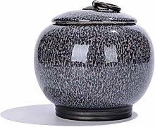 Jsmhh Tea Canister Ceramic Tea Caddy Tea Coffee