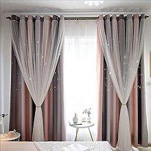 JSMY Gradient Double Open Blackout Curtains No