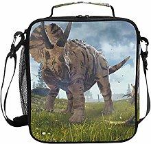 JSTEL Lunch Bag 3D Triceratops Horridus Handbag