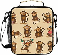 JSTEL Lunch Bag Character Cartoon Monkey Emoticons