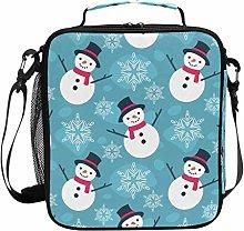 JSTEL Lunch Bag Christma Snowman Snowflake Handbag