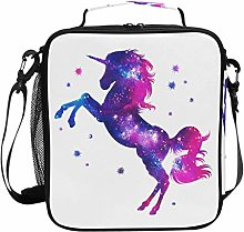 JSTEL Lunch Bag Cosmic Unicorn Stars Handbag
