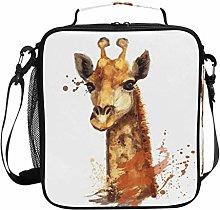 JSTEL Lunch Bag Giraffe Watercolor Handbag