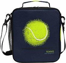 JSTEL Lunch Bag Tennis Abstract Ball Handbag