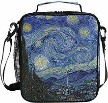 JSTEL Lunch Bag Van Gogh Starry Night Sky Handbag