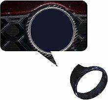 JTAccord 1pcs Rear dry carbon fiber Front Grille