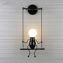 Jtivcs Creative Swing Man Industrial Retro Wall