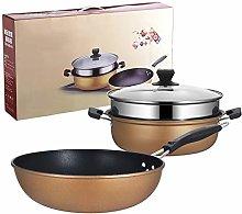 JTJxop Cookware Set, 2PCS Nonstick Induction Pot
